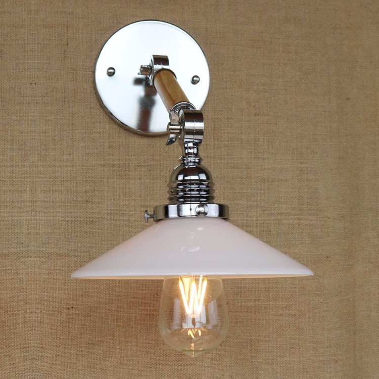 Wood Rocker Edison Wall Lamp Vintage Bedside Light Glass Lampshade Fixtures For Alise Bar Cafe Indoor Home Lighting Luminaire modern lamp trophy wall lamp wall lamp bed lighting bedside wall lamp