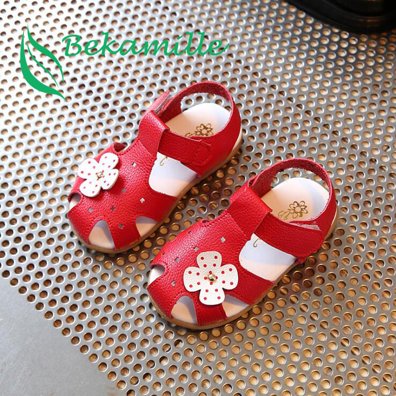 Bekamille Summer Children Shoes For Girls Cute Flower Baby Sandals Kids Shoes Girls Sandals Toddler Baby Shoes Red Pink White