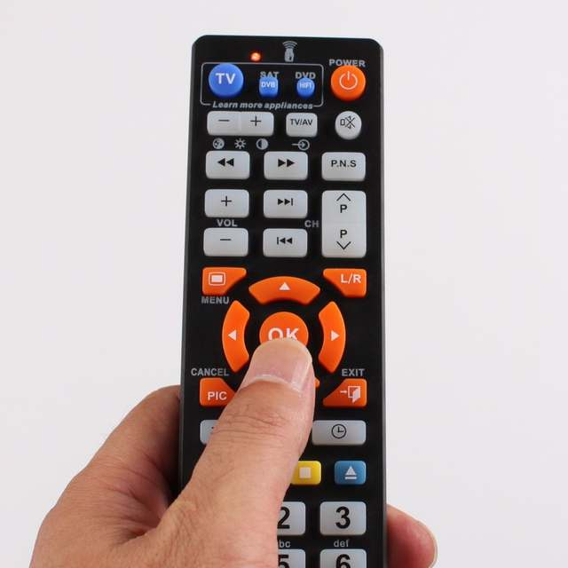 Universal Smart Remote Control with learn function, 3 in 1 controller work  for 3 devices,TV STB DVD SAT DVB HIFI TV BOX, L336