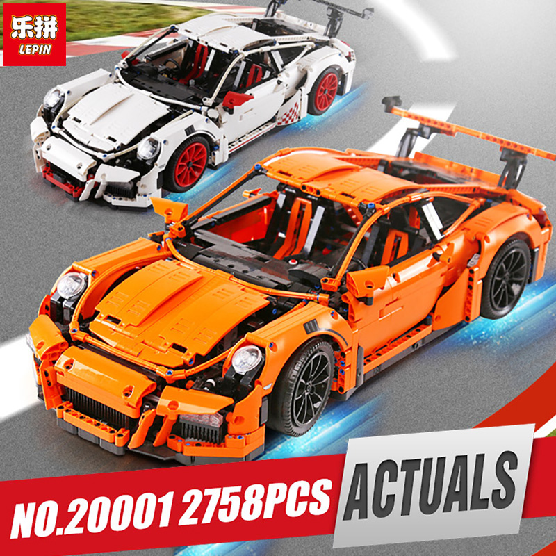 LEPIN 20001 technic series Race Car Model Building Kits Blocks Bricks Compatible Legoing 42056 Boys Gift Educational Toys model