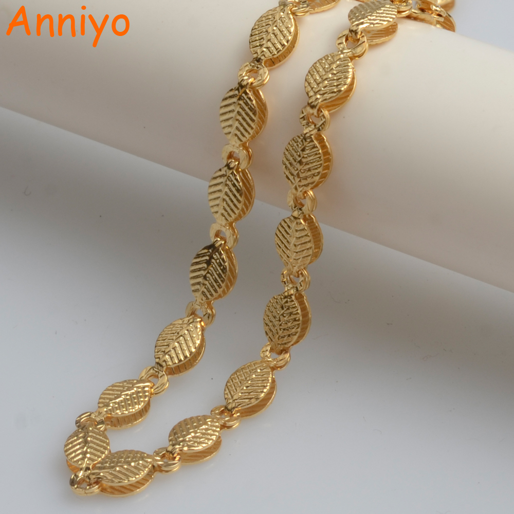 Anniyo Length 50CM Width 4MM,Gold Color Ethiopian Necklaces for Women/Girls,African Light Weight Chain Jewelry Arab #065306Anniyo Length 50CM Width 4MM,Gold Color Ethiopian Necklaces for Women/Girls,African Light Weight Chain Jewelry Arab #065306