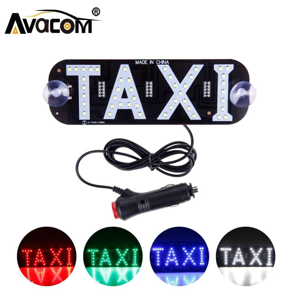 Avacom 1Pcs LED Taxi Display Signal Indicator Lights 12V LED Cab Top Sign Windshield Lamp For KIA/Lada/Hyundai/Renault/Ford/VW