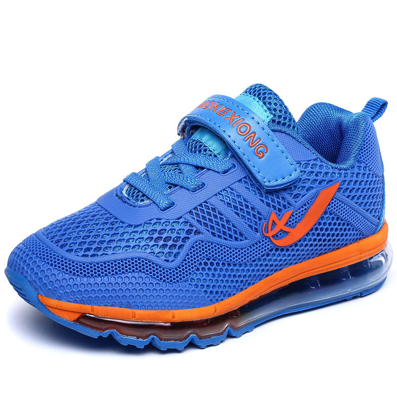 Children's Air Cushion Shoes New Boys Girls Breathable Waterproof Shoes Kids Brand Sports Running Sneakers Size31-38 glowing sneakers usb charging shoes lights up colorful led kids luminous sneakers glowing sneakers black led shoes for boys