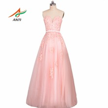 ANTI Candy Pink Wedding Dress Appliques Sweetheart Bride Bridal Gowns Vestido De Noiva Casamento Robe De Mariage Floor-Length
