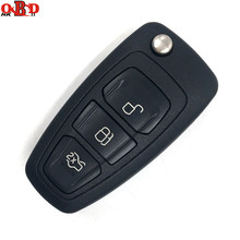 Hot!HKOBDII Brand New Folding Flip Remote Key 3 Button For FORD Focus Mondeo Fiesta 433MHZ With HU101 Blade