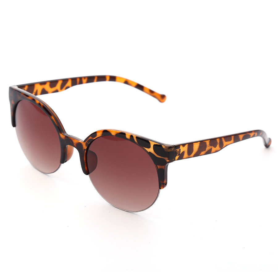 JAXIN Women Sunglasses Half Frame Cat Eye Sunglasses Brand Designer Glasses Mirror Fashion Retro Round Eyewear Female in Women 39 s Sunglasses from Apparel Accessories