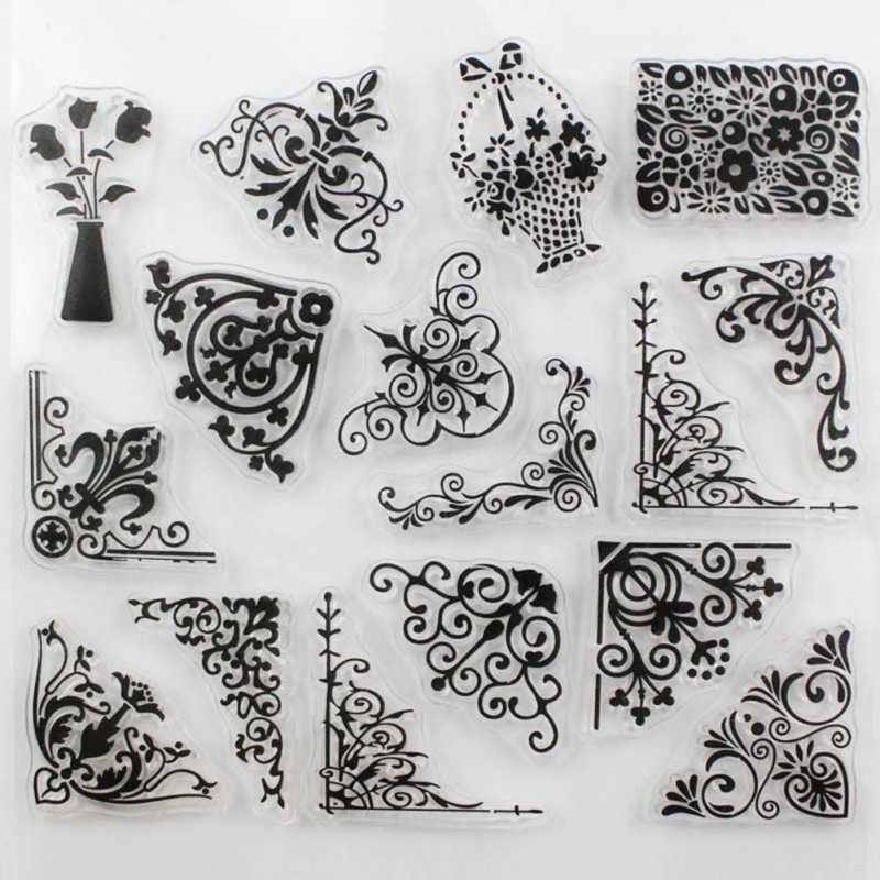 Flower Design Clear Transparent Stamp DIY Scrapbooking Card Making Christmas Decoration Supplies Hot Sale