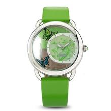 Time2U Леди Мода Эмали Ремесло Прозрачный Выдалбливают Циферблат Бизнес Женщины Кварцевые Часы Наручные Часы