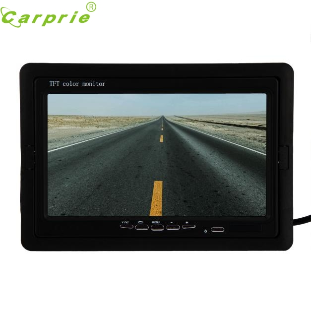 ФОТО AUTO 7 Inch TFT LCD Monitor + Wireless Reverse Rearview Back Up Camera Parking Wireless Kits car reversing backup camera OC 11
