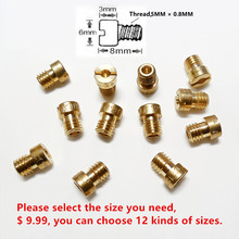 12pcs main jet pack Keihin carburetor CVK PE PZ main injectors Nozzle for CB CG