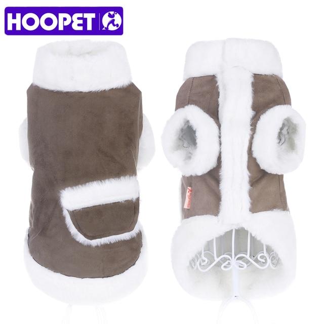 HOOPET Pet Inverno Caldo Vestiti Del Cane Giacca Imbottiture Cappotto Morbido Pe
