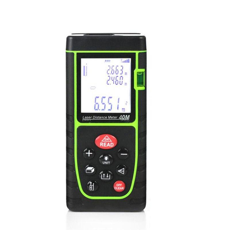 Mètre de Distance Laser numérique 60 M télémètre Laser télémètre optique télémètre mètre mesure de bâtiment Roulette Atorch