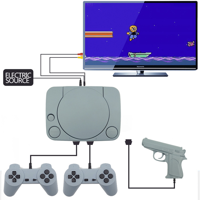 Data Frog 500 Retro Games Video Console Duble Gamepad With 8 Bit Support AV Out Put Family TV Video Game With 2 PCS Controller