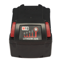 UK US 18V 3 0Ah M18 XC Red Li Ion Battery For Milwaukee 48 11 1820