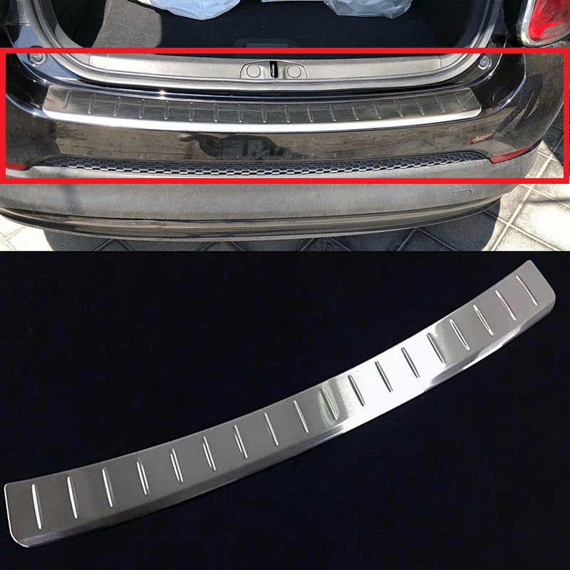Stainless Steel Rear Bumper Protector Sill Trunk Guard Cover Trim For Fiat 500X 2015 2016 2017 2018 Sill Cover Trim Stainless Steel Rear Bumper Protector Sill Trunk Guard Cover Trim For Fiat 500X 2015 2016 2017 2018 Sill Cover Trim