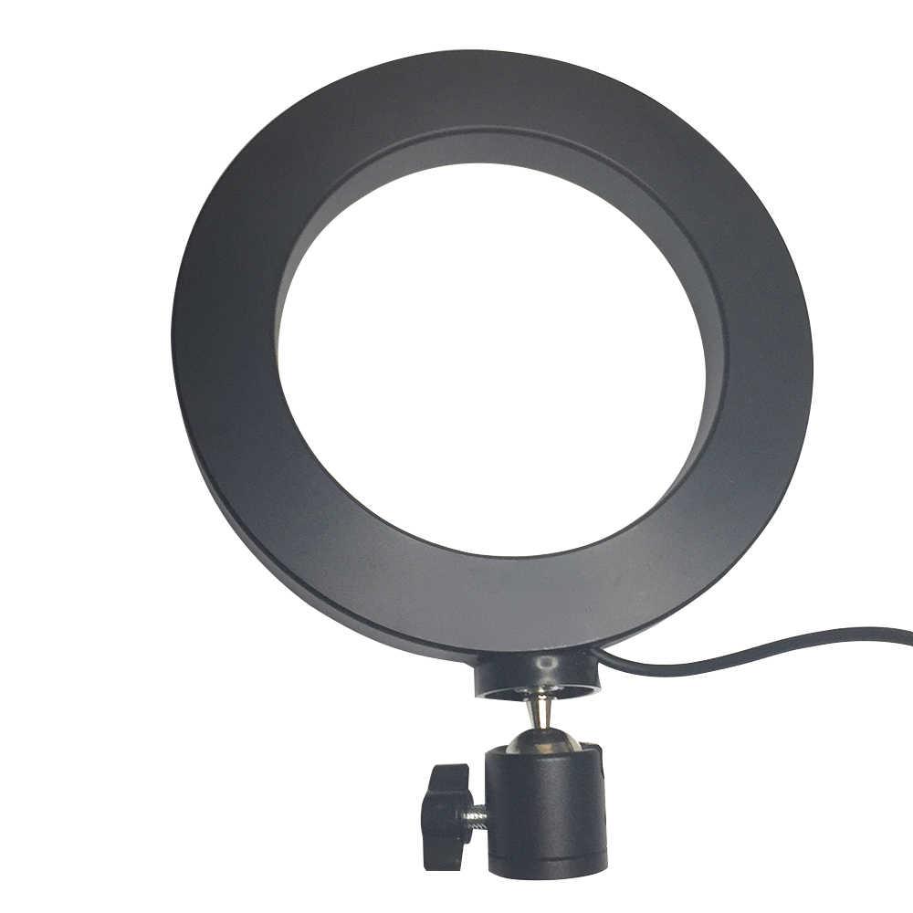 """6 """"pode ser escurecido Iluminação Fotográfica Estúdio de Vídeo LED Ring Light 3200-5600 K para o telefone Inteligente Maquiagem Youtube Ao Vivo com Tripé"""