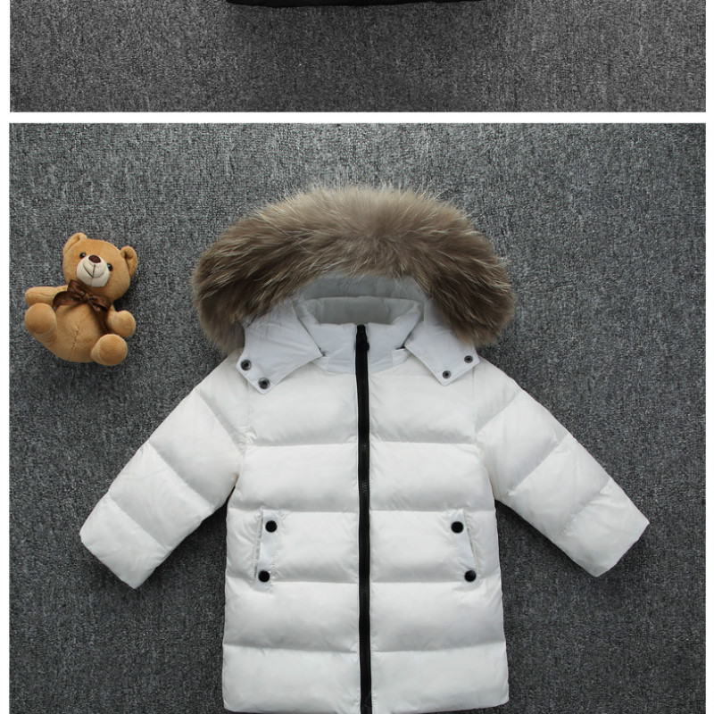где купить New 2017 TNhickened Girls Winter Jackets 2-6t Children Outer Winter Coats Duck Down Coat for Boys Parka 4 Colour Snow Wear дешево