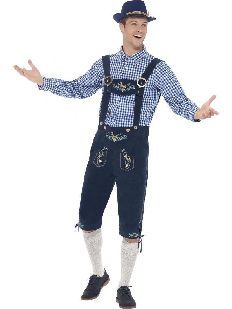 SIGNOR Bavarese Uomo Costume Da Uomo Oktoberfest Birra Tedesca Guy Lederhosen Costume