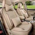 Cubierta de asiento de coche a medida para Audi a5 fundas de los asientos de coches interior accesorios kit de carrocería conjunto completo negro de lujo de la pu cubierta de cuero asientos