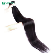 Virgo Hair 30 Inch 32 34 36 38 Inch 40 Inch Weave Bundles Brazilian Hair Straight Remy Human Hair Bundle Deal Natural Color 1B(China)