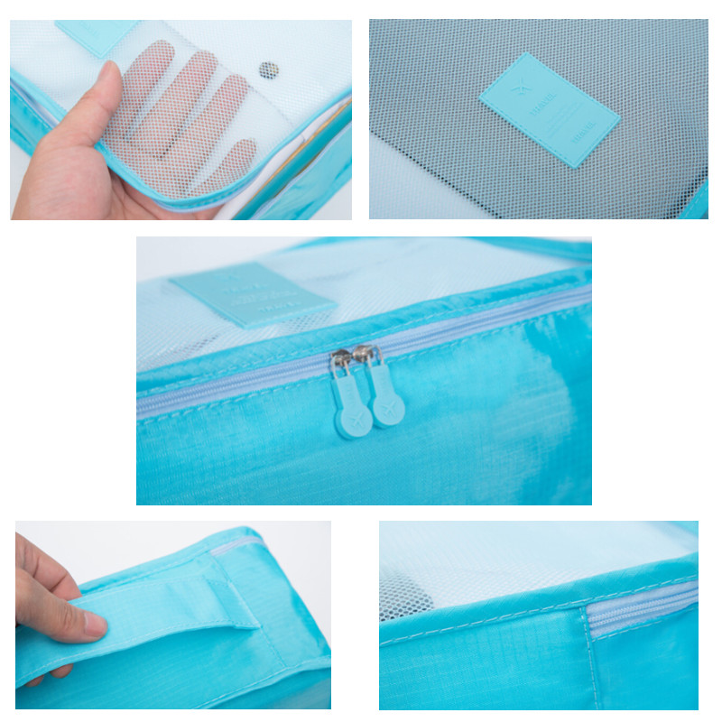 do curso para mulheres dos Function 1 : 6 Pcs/conjunto Travel Suitcase Cloconjunto Divider Container Storage Bag