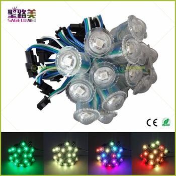 WS2811 IC LED Pixel String Module Digital Fullcolor Light Waterproof RGB LED Module Christmas Decorative DC5V 16mm Diameter 1LED