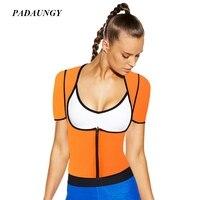 Neoprene Tops Slimming Shaperwear Push Up Waist Trainer Tops Front Closure Ultra Sweat Underwears Hot Corrective