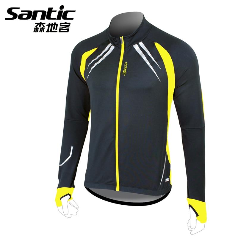 Santic viento Ciclismo chaqueta polar manga larga ropa deportiva invierno bike  Bicicletas ropa al aire libre Bicicletas Jersey 7bf796fcd2217