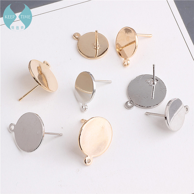 Copper DIY handmade earrings long temperament with hanging round material fashion earrings earrings accessories 4