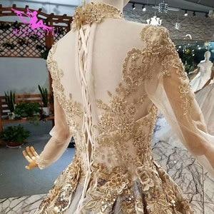 Image 4 - AIJINGYU الزفاف فستان قصير طويل قطار الثياب خصم حجم كبير 2021 2020 Amazings ثوب الزفاف بسيطة سنغافورة