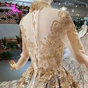 Image 4 - AIJINGYU Weddingdress Short Long Train Gowns Discount Plus Size 2021 2020 Amazings Simple Gown Wedding Dress Singapore