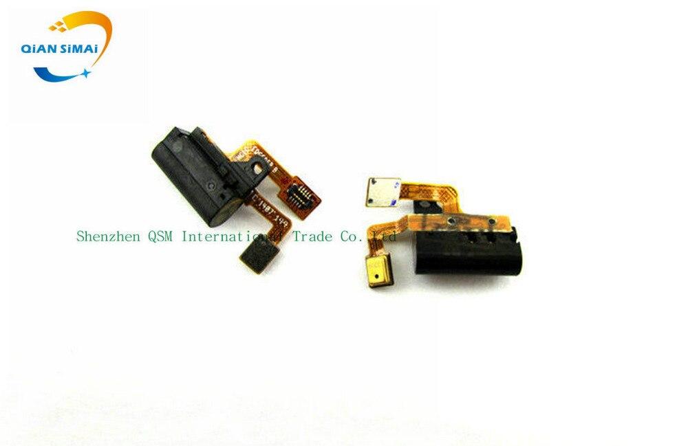 QiAN SiMAi Ear Earphone Audio Jack Port connector Flex cable For Huawei Ascend P6 P6-U06 P6-C00 P6-T00 P6-U00 with microphone