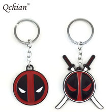 1pcs Marvel Comics Anime X-men Deadpool Metal Keychain Dead Pool Key Chains Pendant Chaveiro Stainless Steel Key Ring Jewelry