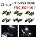 9 unid x Envío gratis Xenon blanco para Mazda 6 Mazda6 Atenza Wagon LED kit de luz interior paquete (2013 +)