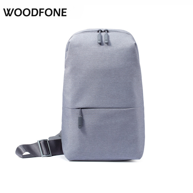 Original xiaomi mi bolsa de hombro simple tipo de paquete pecho hombres bolso ocasional de las mujeres mini bolso de la manera mochila para los teléfonos con cámara