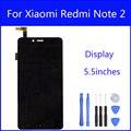 Display lcd original para xiaomi redmi note2 digitador da tela hongmi note 2 tela sensível ao toque de substituição de vidro de 5.5 polegada freetools