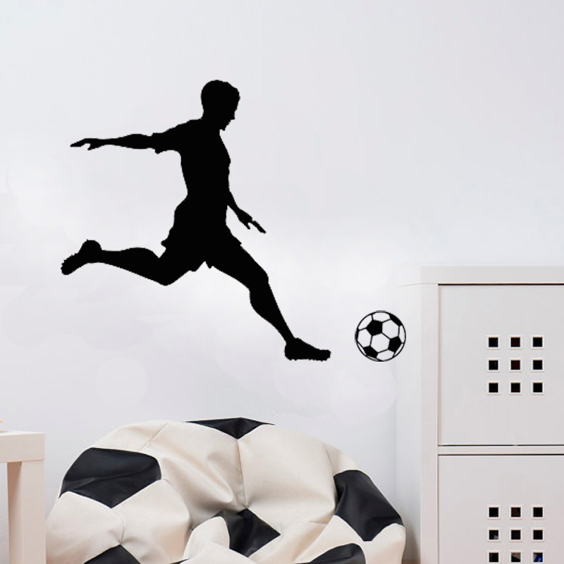 2018 World Football Wall Stickers On The Can Be Stick Soccer Player Vinyl Decal Window Decorative Adhesive Tape Wallpaper image