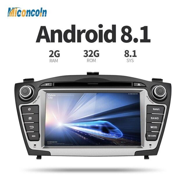 ZIX357060 Android 8,1 2G + 32G para Hyundai IX35 Tucson 2011 de 2012 de 2013 gps de navegación 2 din Coche reproductor de dvd gps radio Estéreo