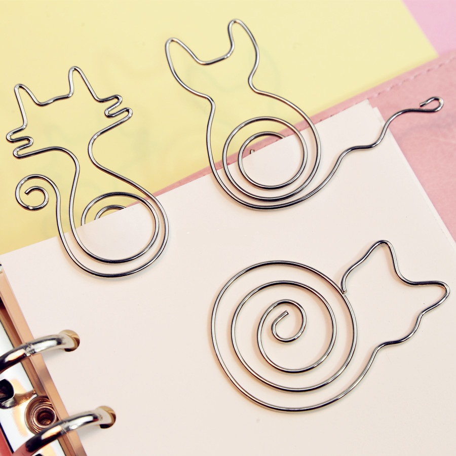 flower shaped paper clips