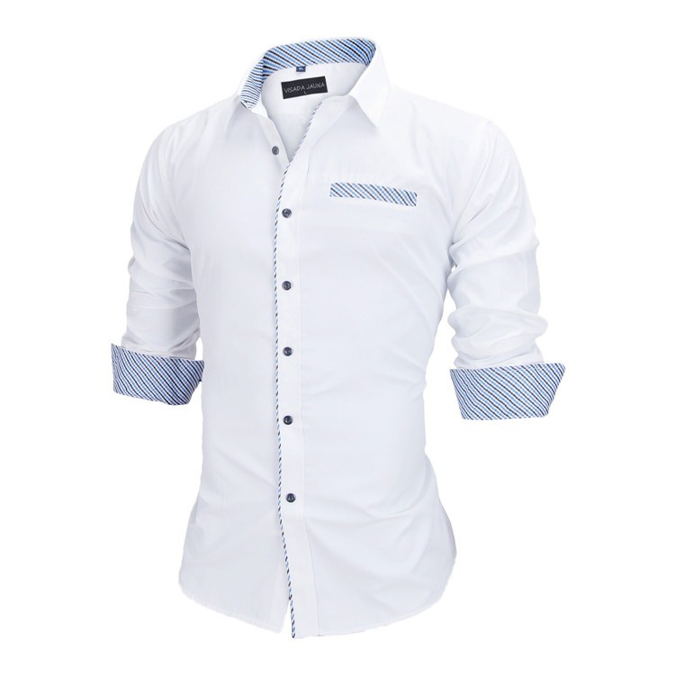 HTB1TbmmKVXXXXbMXFXXq6xXFXXXq - New Arrivals Slim Fit Male Shirt Solid Long Sleeve British Style Cotton Men's Shirt N332