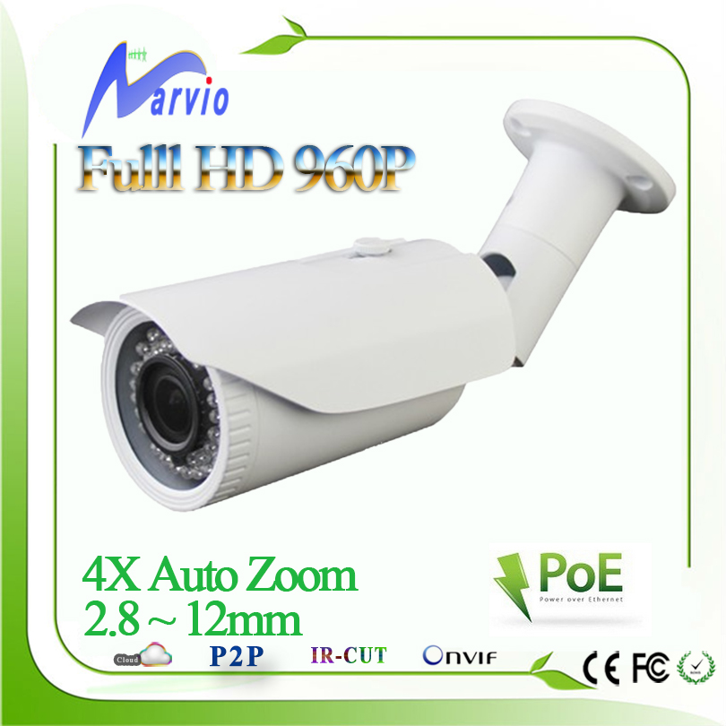 1080P 2MP 4MP H.265 Full HD Bullet Motorized Auto Focal Network IP Camera POE 2.8-12mm 4X Zoom Motorized Lens Onvif Sony IMX322