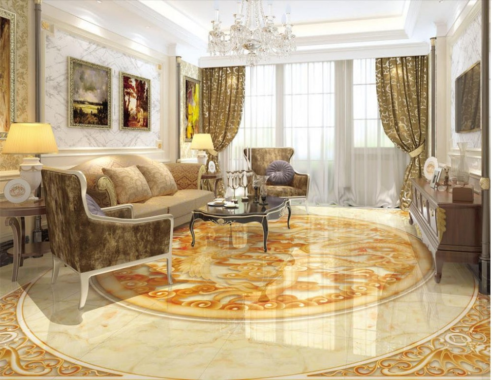 ФОТО Marble 3D Relief 3d floor wallpapers self-adhesive 3D floor wallpapers PVC waterproof floor Home Decoration