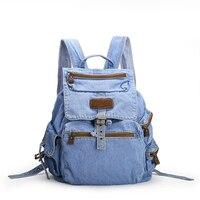 Womens Fashion Denim Backpack Casual Travel Backpacks Vintage School Bag For Teenage Girls Women Bags Mochila
