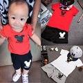 New 2016 brand cartoon children clothing set kids shorts + t shirts 2pcs boys sport suit set fit