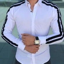 Fashion Men Shirts Business Shirt Long Sleeve Slim Fit Tops