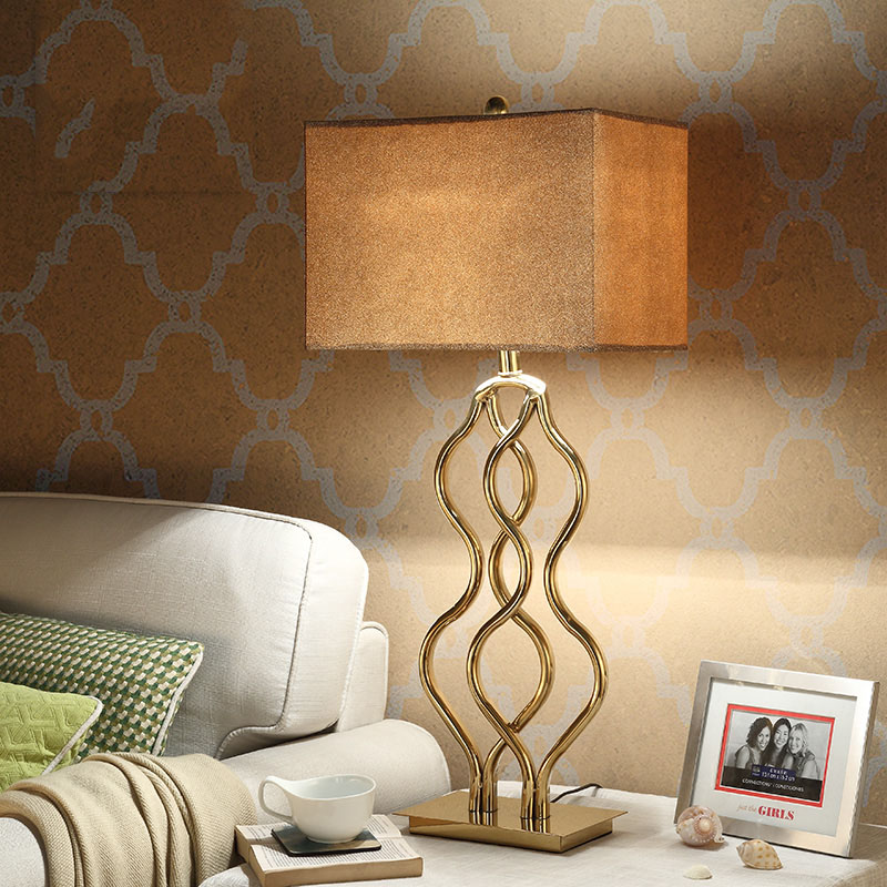 stainless steel Table Lamp With Fabric Lampshade Bedside Desk lights lamparas de mesa Book Lamps Deco Luminaria Reading Lighting botimi nordic led table lamp with metal lampshade for bedroom white bedside desk lights black reading lamps wooden luminaria