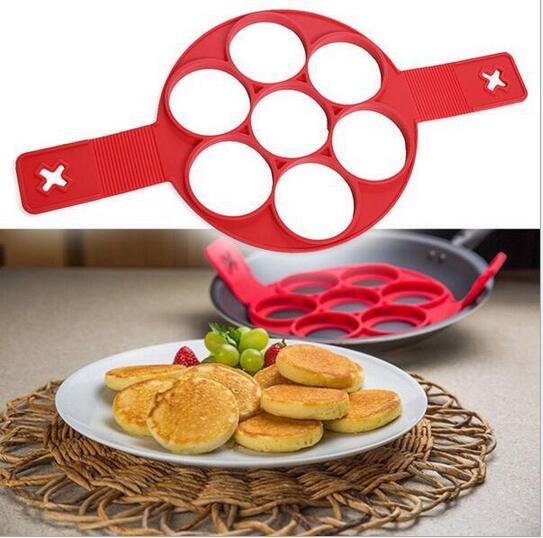 Silicona Moldes de Torta de Los Pasteles Del Molde Tortilla Desayuno Huevos Frit