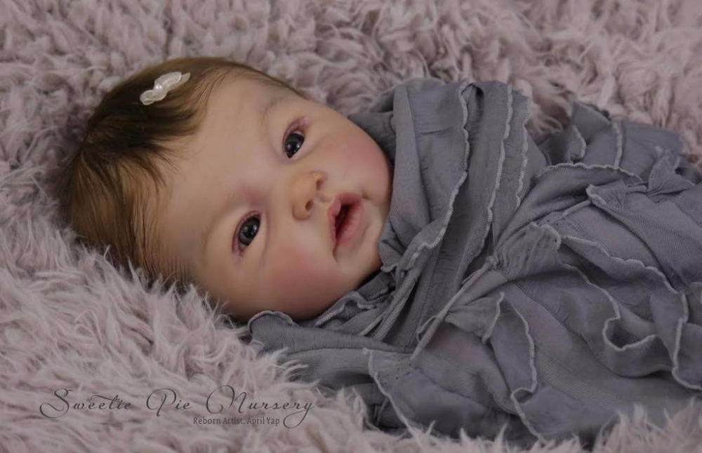 Reborn Doll Kit Adeline By Ping Lau Limited Edidtion Lifelike Soft Silicone Vinyl Real Gentle Touch Unpainted Doll Parts