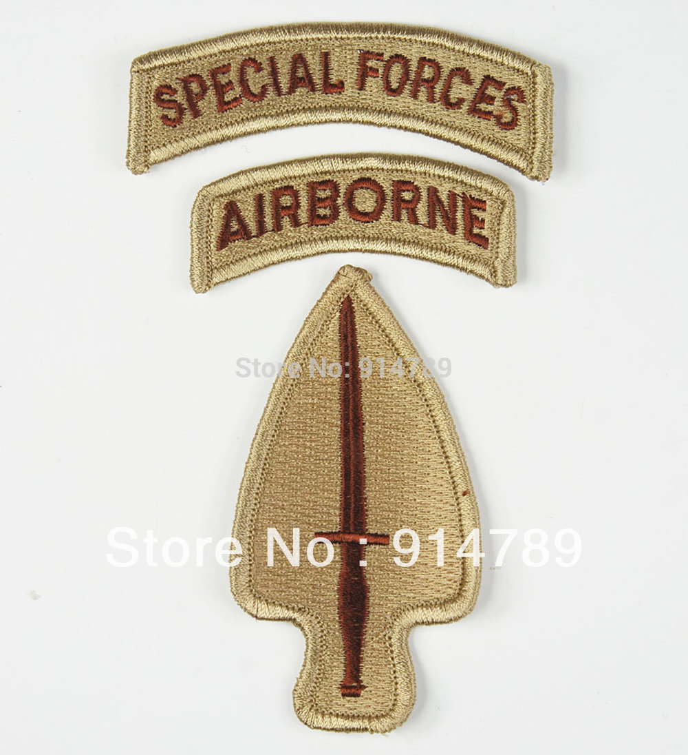 US ARMY SPECIAL OPERATIONS COMMAND AIRBORNE ARMBAND PATCH SAND COLOUR -32766