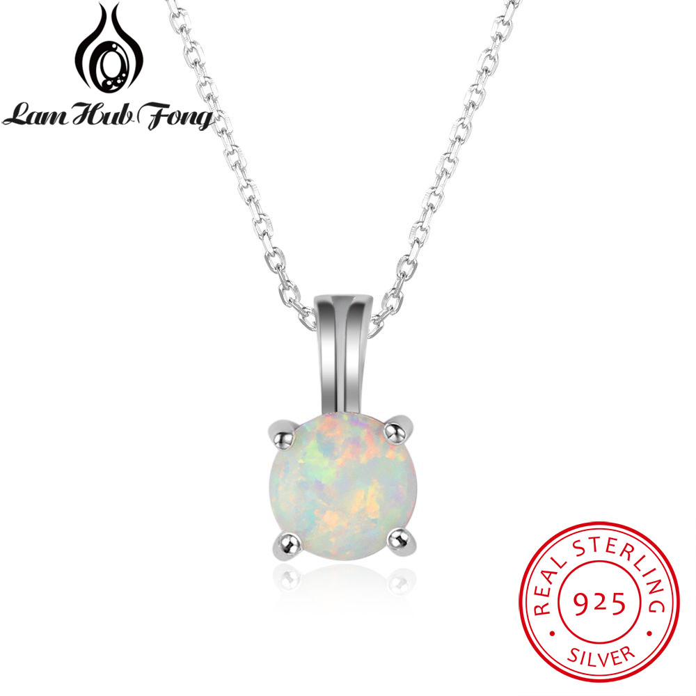 100% 925 Sterling Silver Round White Fire Opal Pendants Necklaces for Women Birthday Wedding Gift Wholesale Ball Fashion Jewelry100% 925 Sterling Silver Round White Fire Opal Pendants Necklaces for Women Birthday Wedding Gift Wholesale Ball Fashion Jewelry